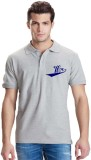 Giftsmate Printed Men's Polo Neck Grey T...