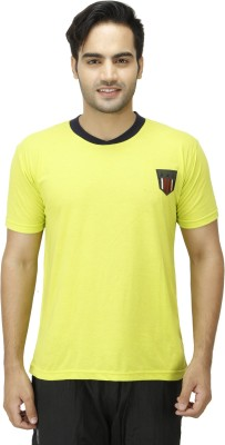 1OAK Solid Men's Round Neck Green T-Shirt