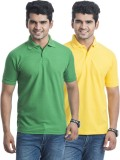 Laconic Solid Men's Polo Neck Light Gree...