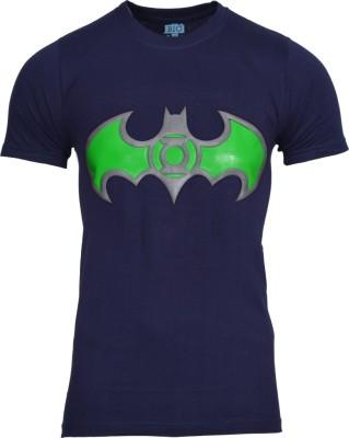 Mangoman Printed Men's Round Neck Dark Blue T-Shirt