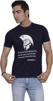Sandbox Printed Men's Round Neck Reversible Black T-Shirt