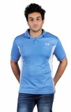 Choice4U Solid Men's Polo Neck Blue T-Sh...