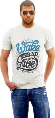 Monzter Popcornz Graphic Print Men's Round Neck White T-Shirt