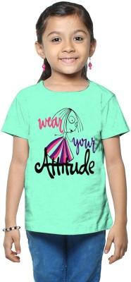 So Sweety Printed Girl's Round Neck Light Blue T-Shirt