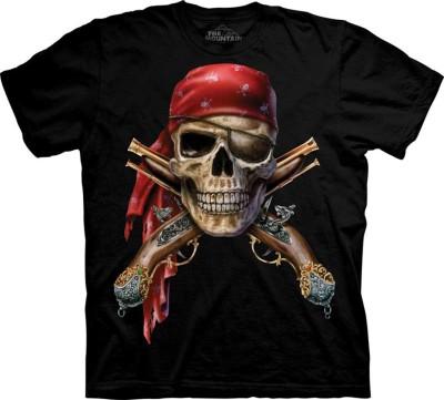 Saint Pure Printed Men's Round Neck Black, Red, Brown T-Shirt