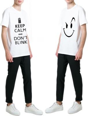 13th Avenue Printed Men's Round Neck White T-Shirt