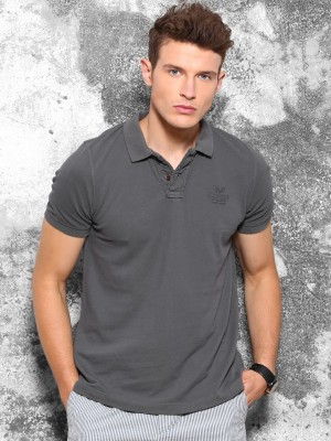 Wrogn Solid Men's Polo Neck T-Shirt