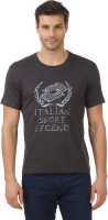 Lotto T Shirts (Men's) - Lotto Solid Men's Round Neck Grey T-Shirt