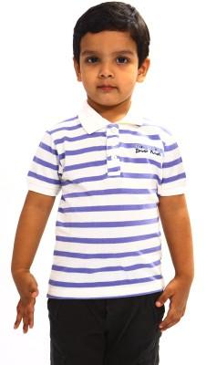 Bio Kid Striped Boy's Polo White, Blue T-Shirt