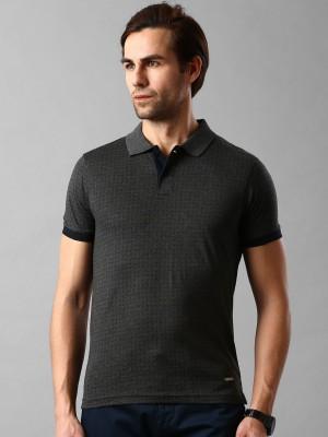Invictus Printed Men's Polo Neck Grey T-Shirt
