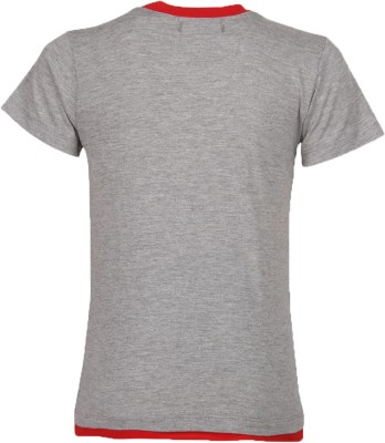 Cool Quotient Printed Boy's Round Neck Grey T-Shirt