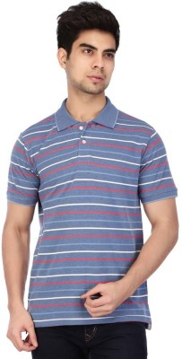 ACROPOLIS by Shoppers Stop Solid Men's Polo Blue T-Shirt