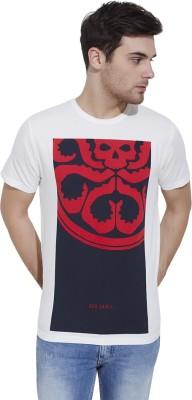 Slub By INMARK Printed Men's Round Neck White T-Shirt