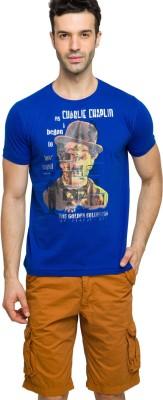 Status Quo Printed Men's Round Neck Blue T-Shirt