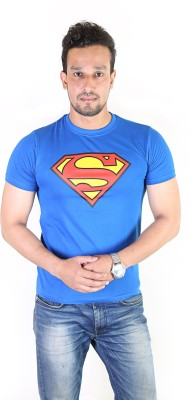 Fashion Fakir Printed Men's Round Neck Blue T-Shirt