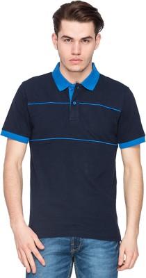 Kanva Striped Men's Polo Dark Blue, Blue T-Shirt