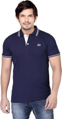 Always & Forever Solid Men's Polo Neck Dark Blue T-Shirt