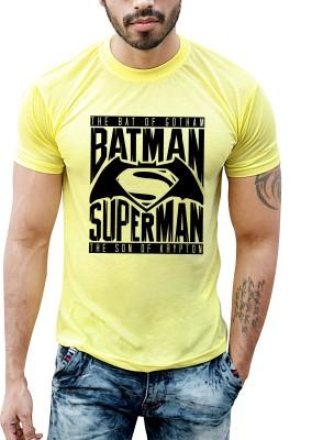 Bastard Tendencies Printed Men's Round Neck Yellow T-Shirt