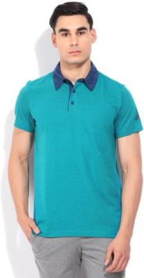 Adidas Men's Blue, Green T-shirt