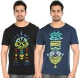 Pulpypapaya Printed, Self Design Men's R...