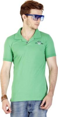 Duke Stardust Solid Men's Polo Neck Green T-Shirt
