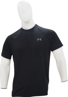 Under Armour Solid Men's Round Neck Black T-Shirt