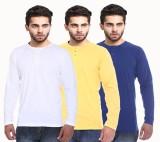 NE Solid Men's Henley Multicolor T-Shirt