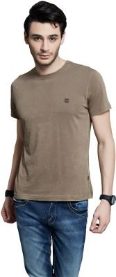Route 66 Solid Men's Round Neck Dark Green T-Shirt