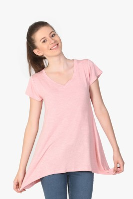 Unimod Solid Women's V-neck T-Shirt