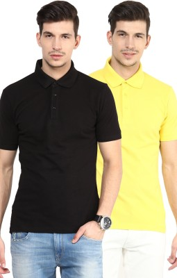 Yellow Submarine Solid Men,s Polo Neck T-Shirt