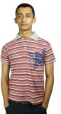 Bluedge Striped Men's Polo Neck Multicol...