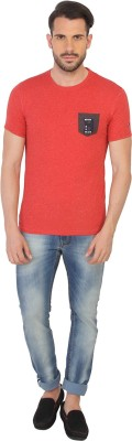 Being Human Clothing Printed Men's Round Neck Red T-Shirt