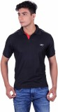 EX10 Solid Men's Polo Neck Black T-Shirt