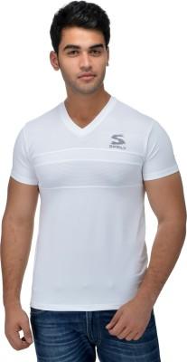 Surly Printed Men's V-neck White T-Shirt