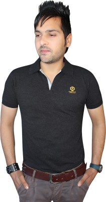 F91 Solid Men's Polo Neck T-Shirt
