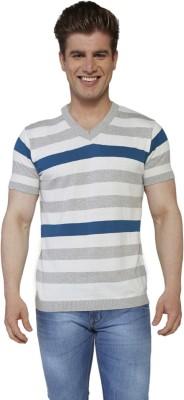 Globus Striped Men's V-neck Multicolor T-Shirt