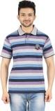 Danteez Striped Men's Polo Neck Multicol...
