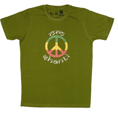 Udankhatola Printed Men's Round Neck Dark Green T-Shirt