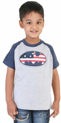 Big Tree Solid Boy's Round Neck Grey T-Shirt