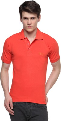 Top Knit Solid Men's Polo Neck T-Shirt