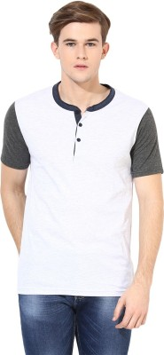Aventura Outfitters Solid Men,s Henley White T-Shirt
