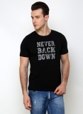 Rigo Printed Men's Round Neck Black T-Sh...