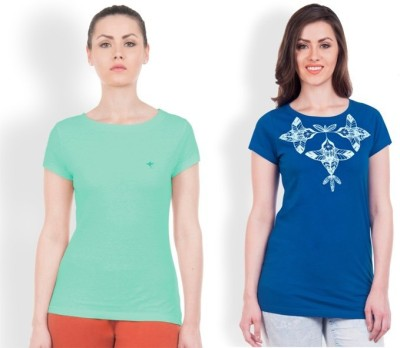 Do U Speak Green Printed Women's Round Neck T-Shirt
