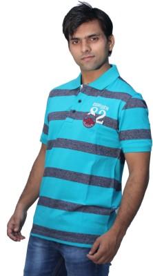 Romano Striped Men's Polo Neck Multicolor T-Shirt