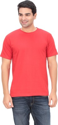 Indian Engineer Solid Men's Round Neck Red T-Shirt