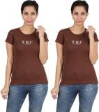 Twin Birds Printed Women's Round Neck T-...