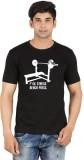 Xtees Graphic Print Men's Round Neck Bla...