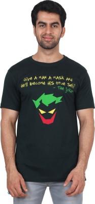 T Clobbers Graphic Print Men's Round Neck Dark Green T-Shirt