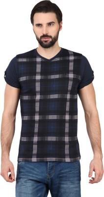 Ringspun Checkered Men's V-neck T-Shirt