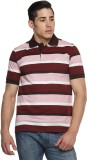 Tempt Striped Men's Polo Neck Red T-Shir...